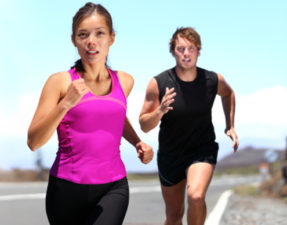 Runners - couple running