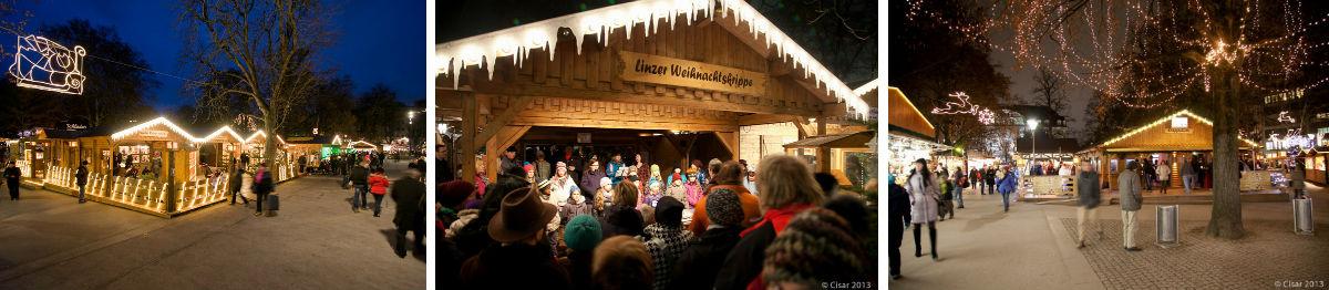 Weihnachtsmarkt Volksgarten Linz
