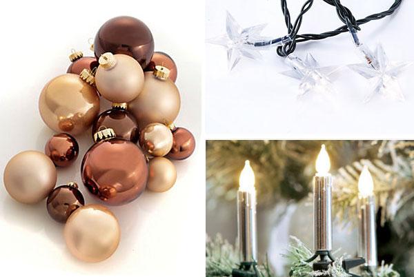 Kerzen und Lichter für den Baum