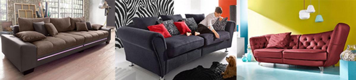 verschiedene Big Sofa