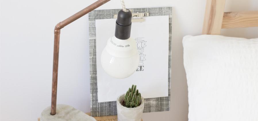 Diy Lampe Aus Beton Selbermachen Chic Einfach