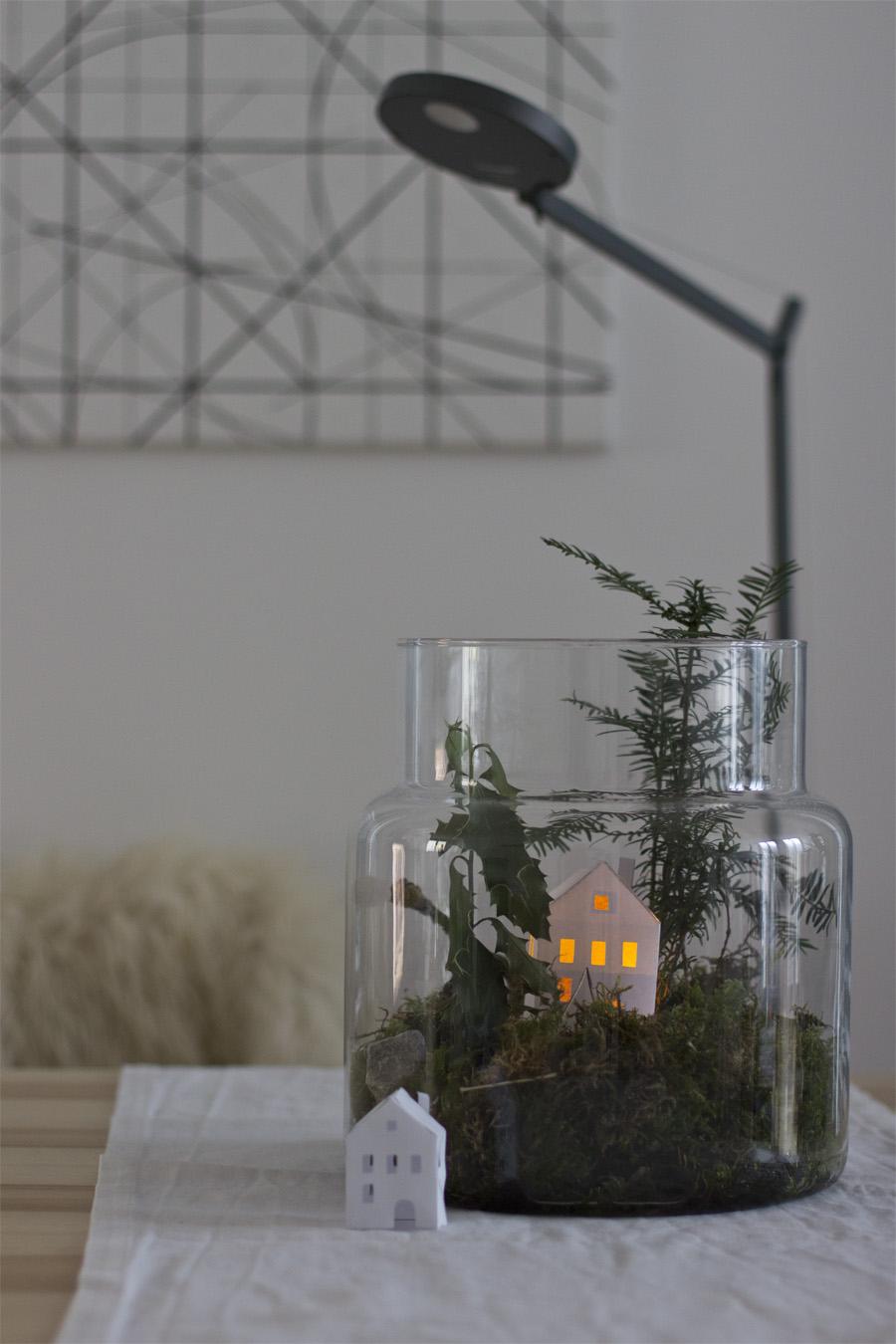 Deko im glas so machst du ein sch ne winterlandschaft im glas - Winterlandschaft dekoration ...