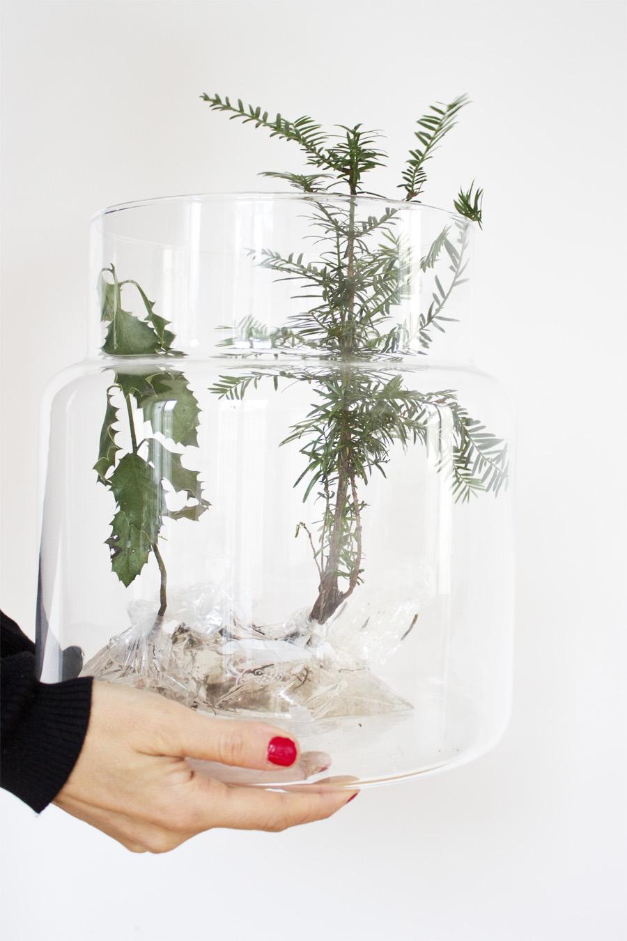 deko im glas so machst du ein sch ne winterlandschaft im glas. Black Bedroom Furniture Sets. Home Design Ideas