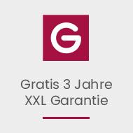 Gratis 3 Jahre XXL-Garantie