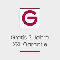 Gratis 3 Jahre XXL Garantie