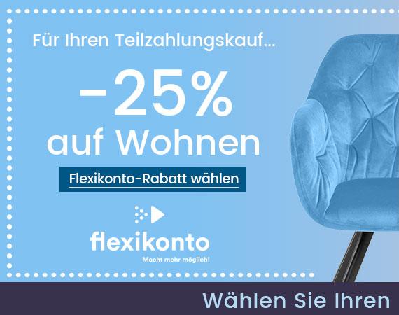 -25% auf Ihren Teilzahlungskauf mit Flexikonto