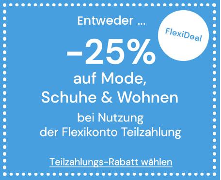 -25% auf Mode, Schuhe & Wohnen bei Flexikonto Teilzahlung